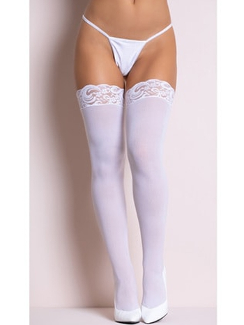 Kadın Beyaz Jartiyer Çorap Takım 80827