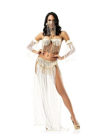 Kadın Dansöz Kostüm Vip Madame VIP-2604-EKRU