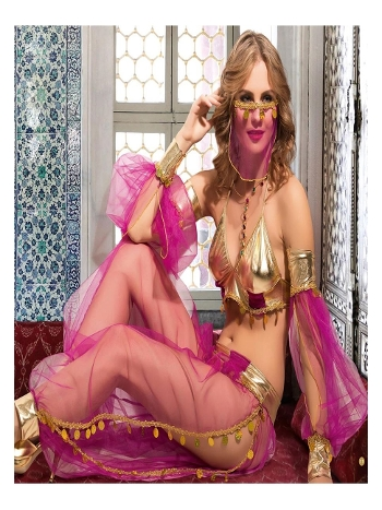 Kadın Fantezi Oryantel Dansöz Kostüm Vip Madame VIP-2207-MOR
