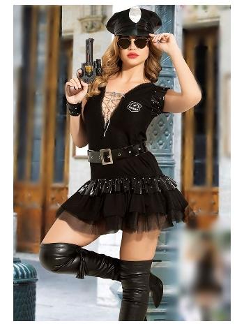 Kadın Fantezi Polis Kostüm Vip Madame VIP-2309