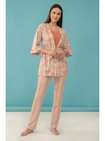 Keten 3'lü Pijama Takım Feyza 4037