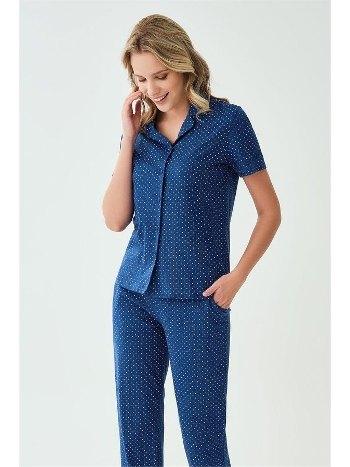 Kısa Kollu Düğmeli Pijama Takımı ESK28706