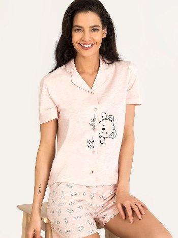 Koala Gömlekli Şort Pijama Takım NBB 67134