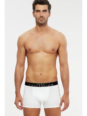Kom Axel Kontrast Şeritli Erkek Boxer