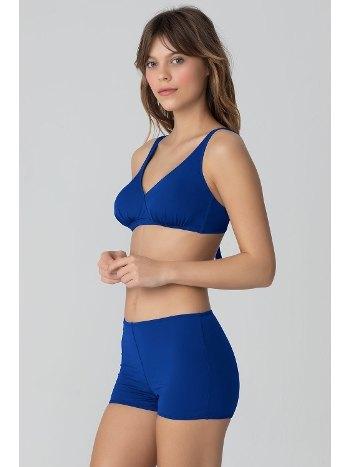 Kom Eldora Düz Renk Sortlu Saks Bikini