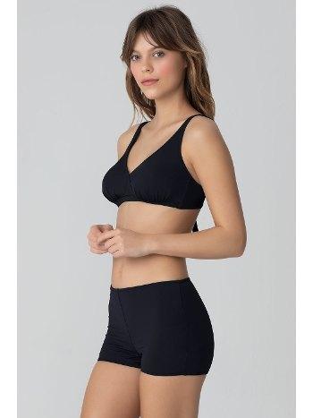 Kom Eldora Düz Renk Sortlu Siyah Bikini