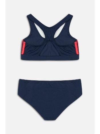 Kom Solid Sırt Pencere Detaylı Bikini Takımı Lacivert