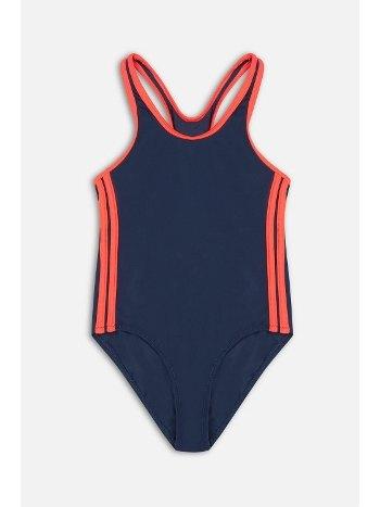 Kom Sport Kontrast Şerit Çocuk Yüzücü Mayo Lacivert