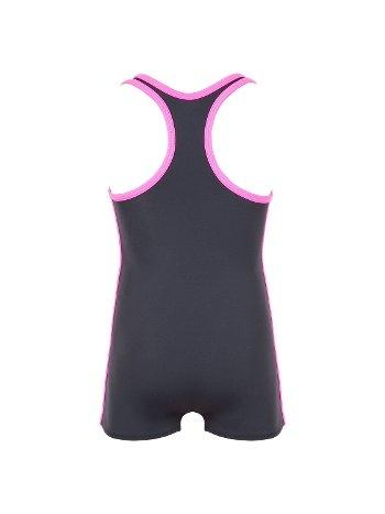 Kom Sporty Füme Kontrast Şeritli Şort Yüzücü Mayo