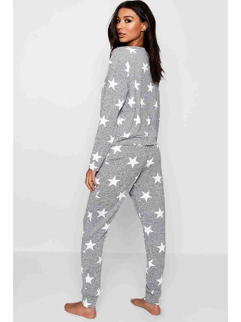 Merry See Penye Yıldızlı Pijama Üst Çok Renkli