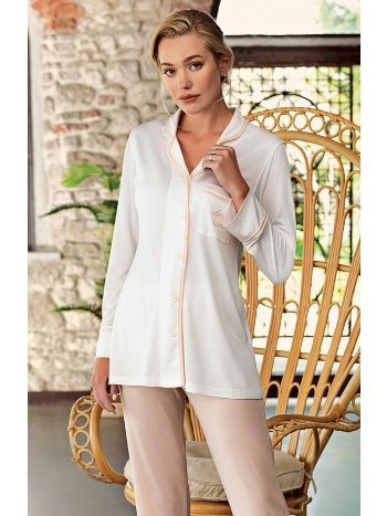 Önden Düğmeli Lohusa Pijama Takımı Artış 1208