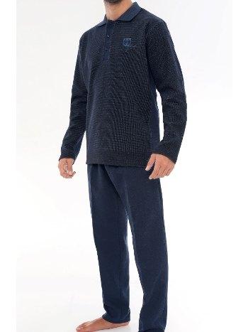Selanik Yakalı Pijama Takımı Bone 5389