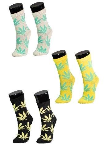 Bitki Desenli Socksturka Soket Çorap-3 Adet