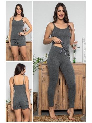 Şortlu ve Taytlı 3lü Pijama Takımı MyBen 75010
