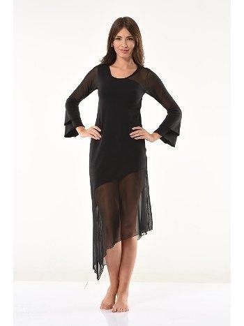 Transparan Detaylı Uzun Elbise Derya Kurşun 958