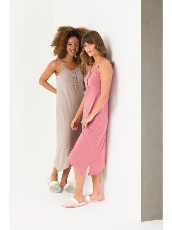Uzun Askılı Gecelik Pijama Yeni İnci BPJ1716