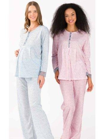 Viskon Hamile Lohusa Pijama Takım Yeni İnci BPJ1739