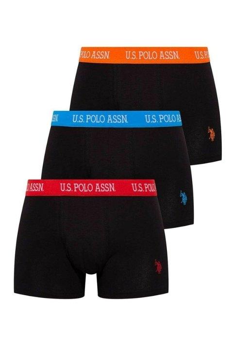 Bel Lastiği Renkli Kısa Paça 3lü Boxer U.S. Polo Assn. 80253