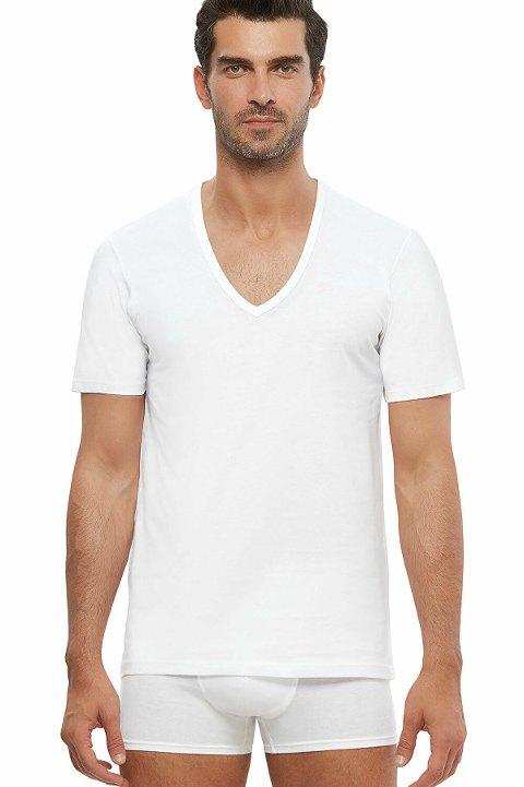 Kom Enrico V Yaka Pamuk 2 li Erkek Tshirt