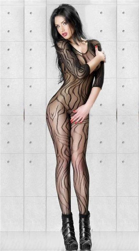 Nightlight Özel Tasarım Desenli Vücut Çorabı